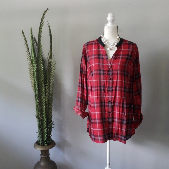 e6ccc468 Cato Tops | Nwt Plaid Hilow Tunic | Poshmark